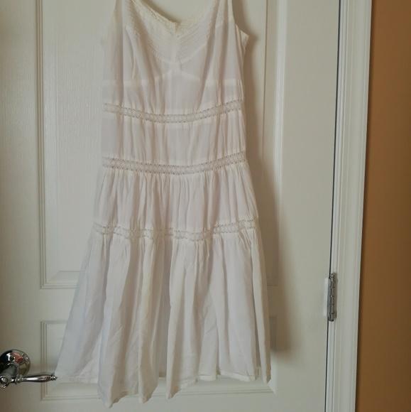 Dresses & Skirts - La Chapelle White Cotton Lace Slip Dress